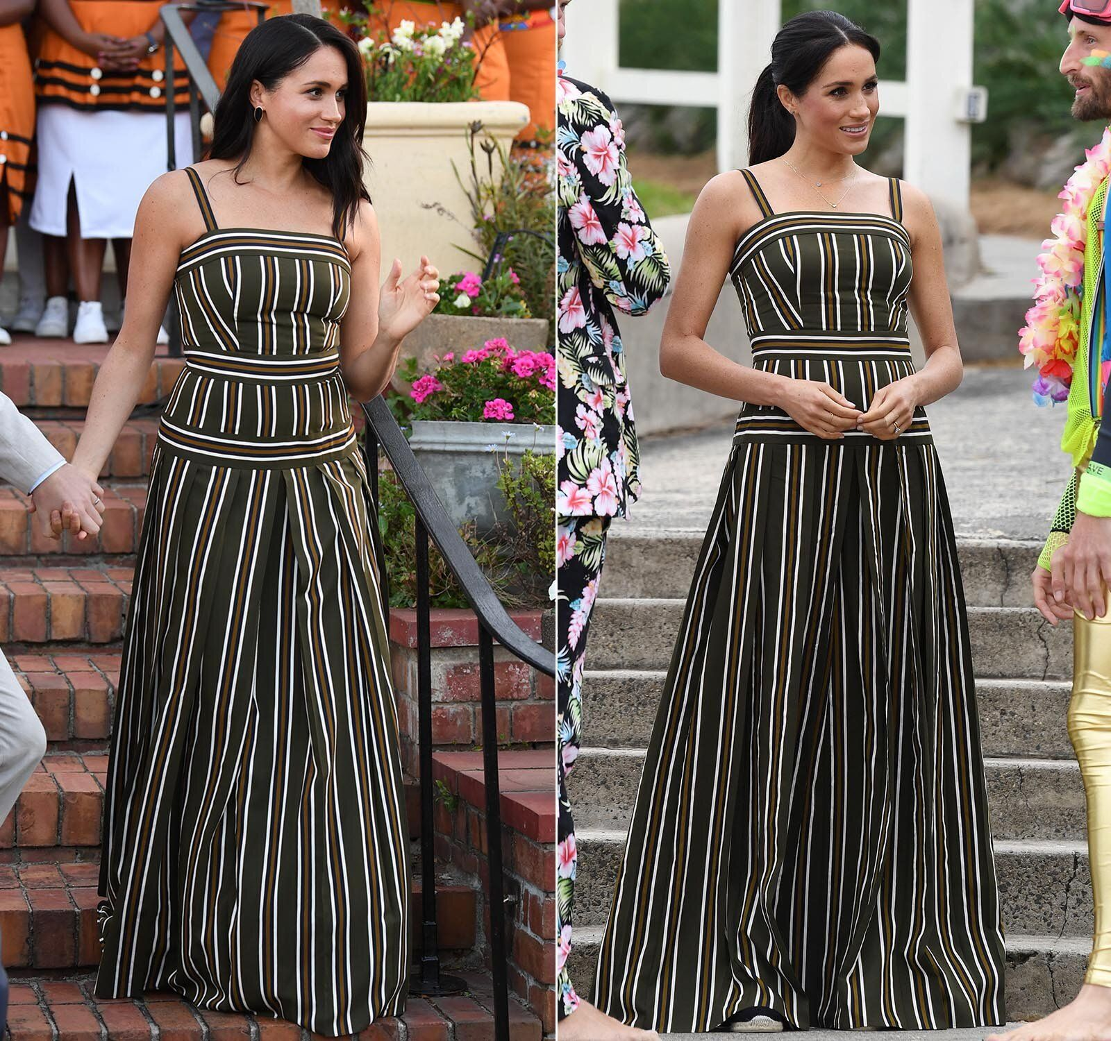 (Left) Meghan attends a reception for young people, community and civil society leaders at the Residence of the British