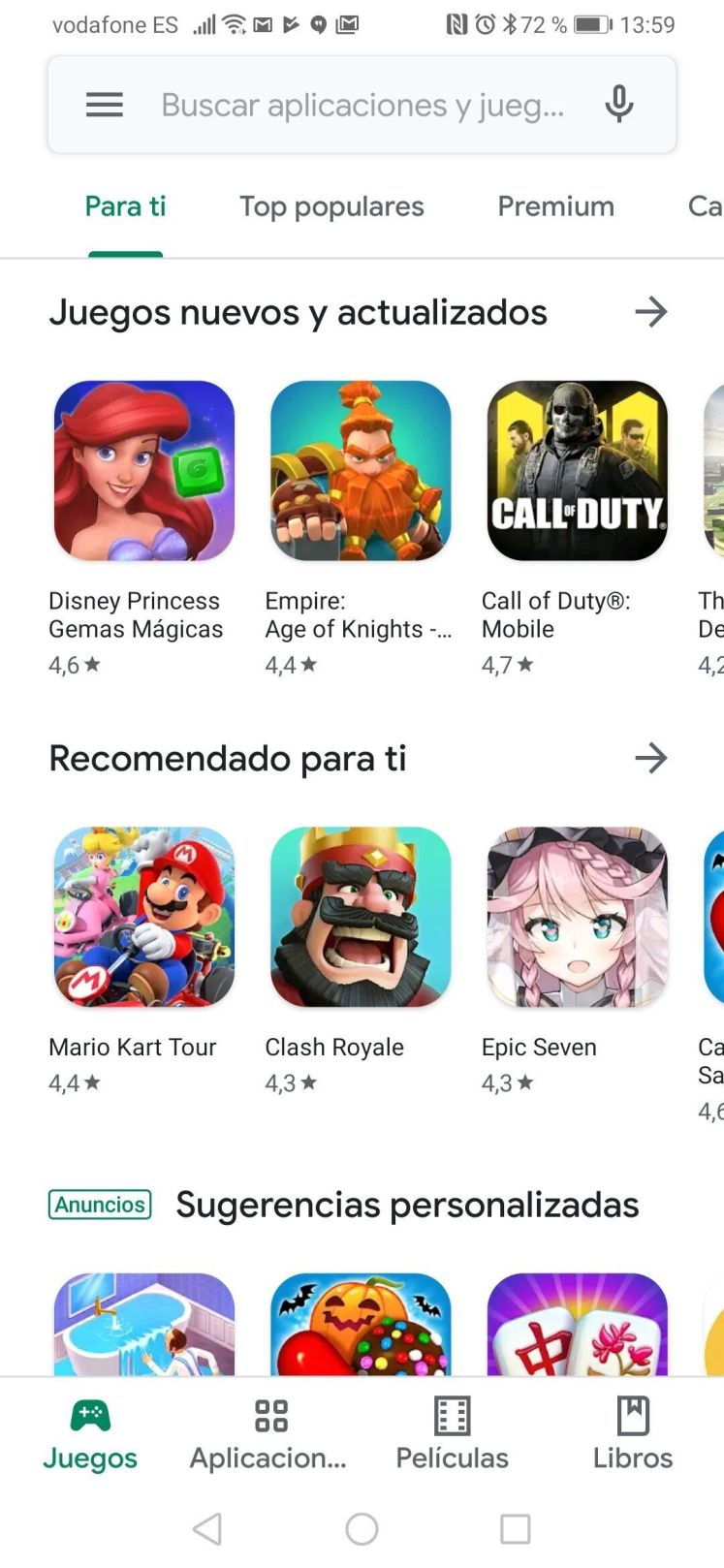Captura de pantalla de Play Store.