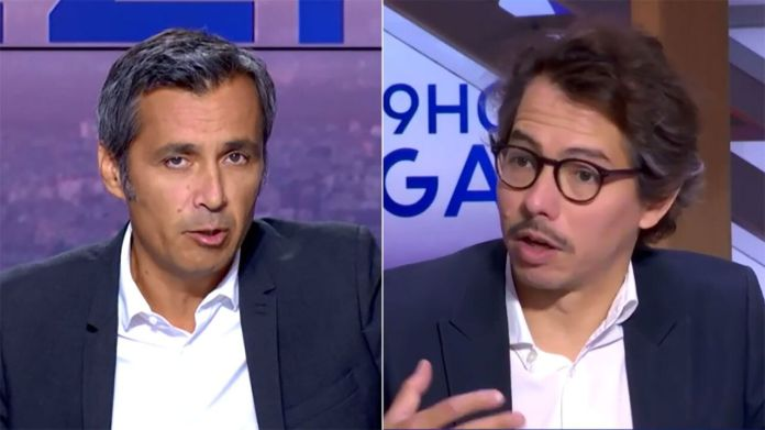 Olivier Galzi (left) has scandalized his columnist Thomas Porcher (right) with a comparison ...