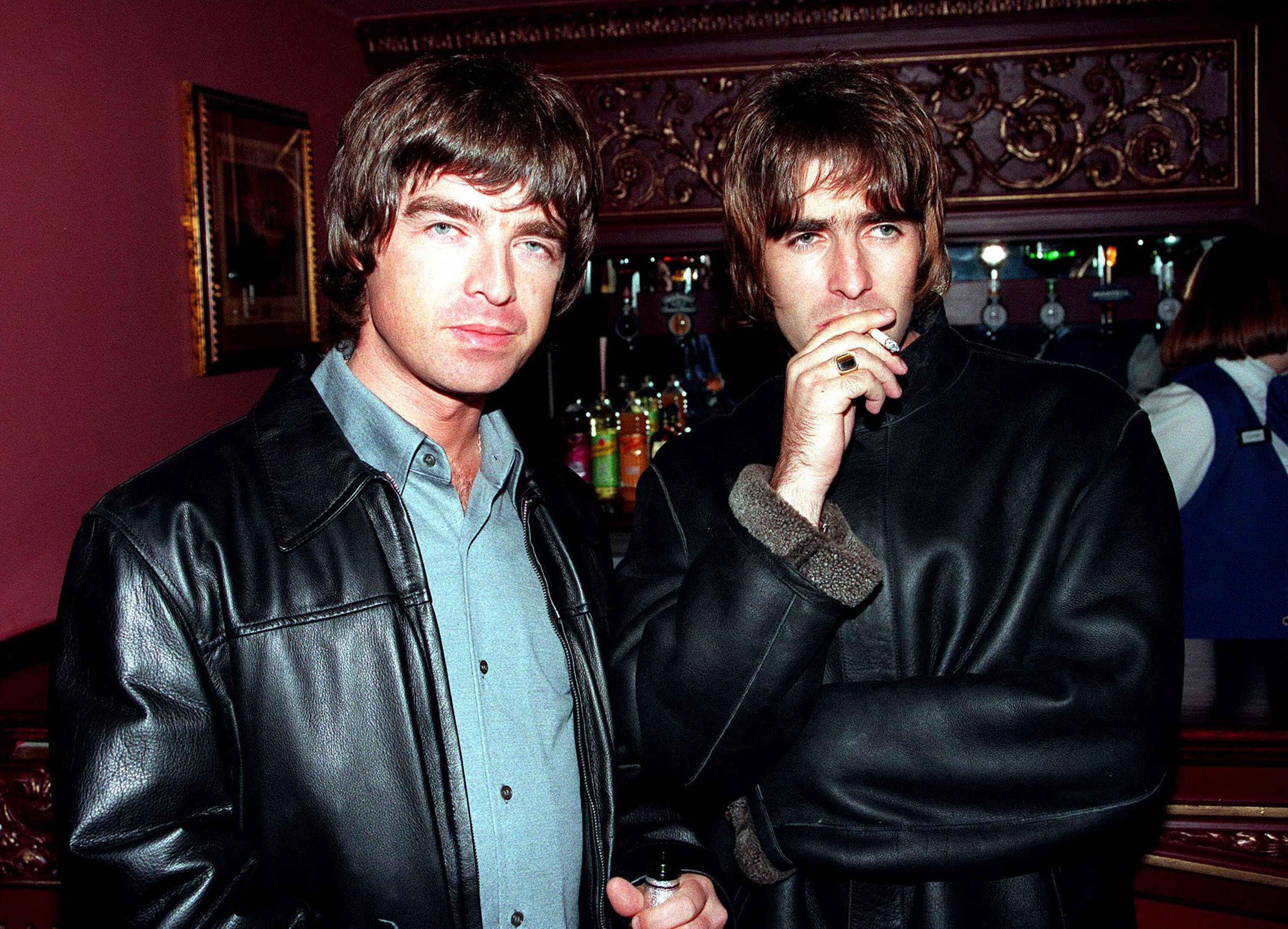Brothers Liam and Noel Gallagher formed Oasis in Manchester, England, in 1991.