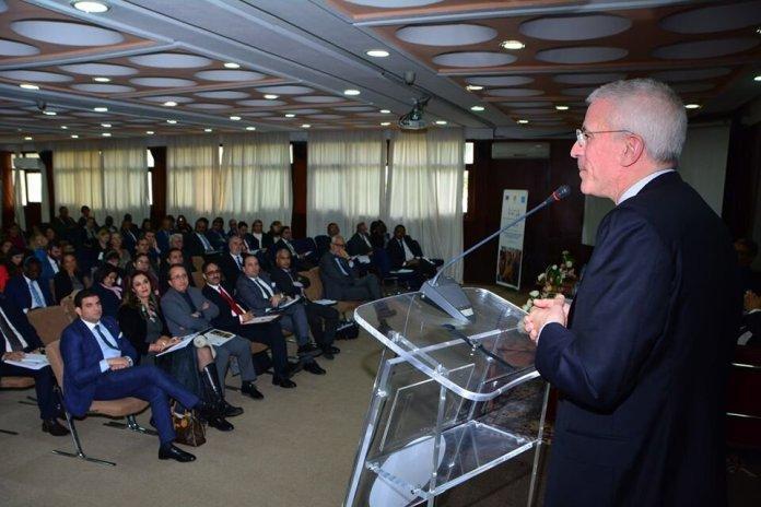 Philippe Lorti, premier secrétaire de la HCCH, lors de son allocution, le 14 novembre, à l'Institut supérieur...