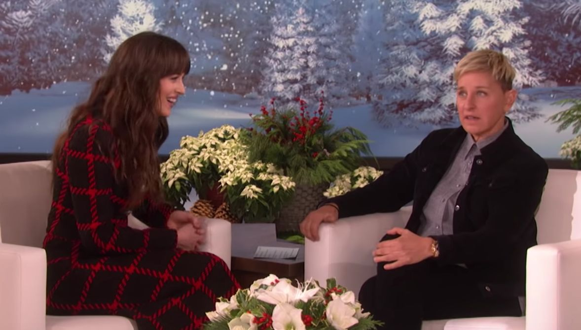 Dakota Johnson And Ellen Take Awkward To New Heights In