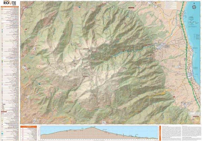 Πεζοπορικός χάρτης του Ολύμπου από τη ROUTE