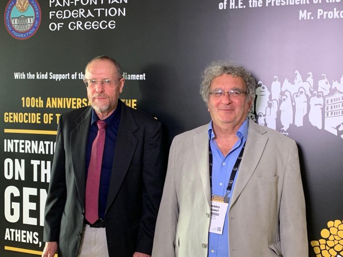 Στα αριστερά ο κ. Ντρόρ Ζεέβι και δίπλα του ο Μπένι