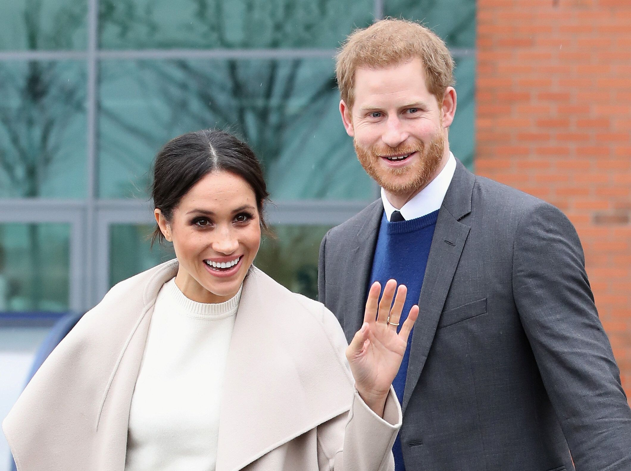 Prince Harry and Meghan Markle pictured in Belfast, Northern Ireland, on March 23, 2018.