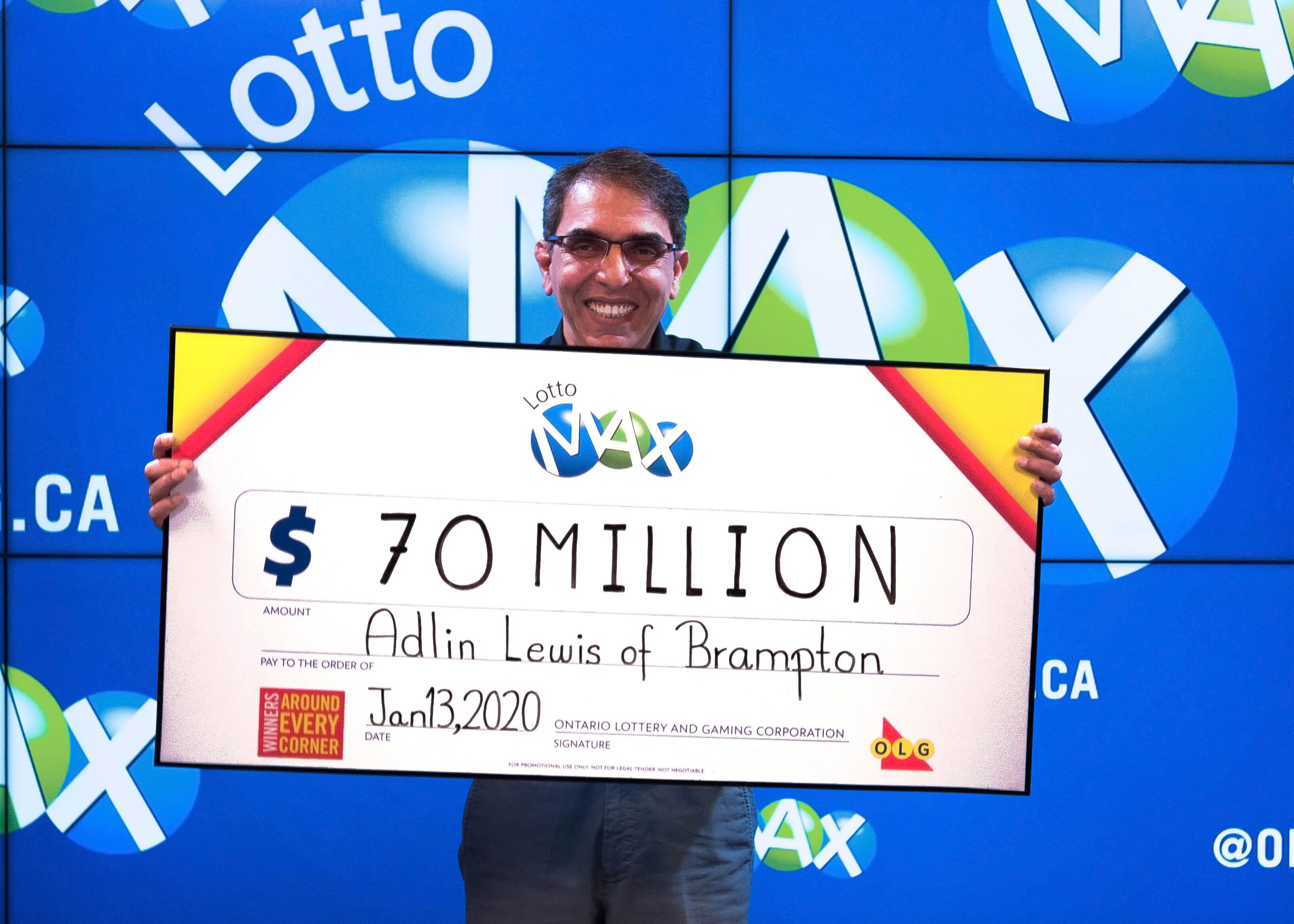 Ontario Man Adlin Lewis Wins 70 Million Lotto Max Jackpot