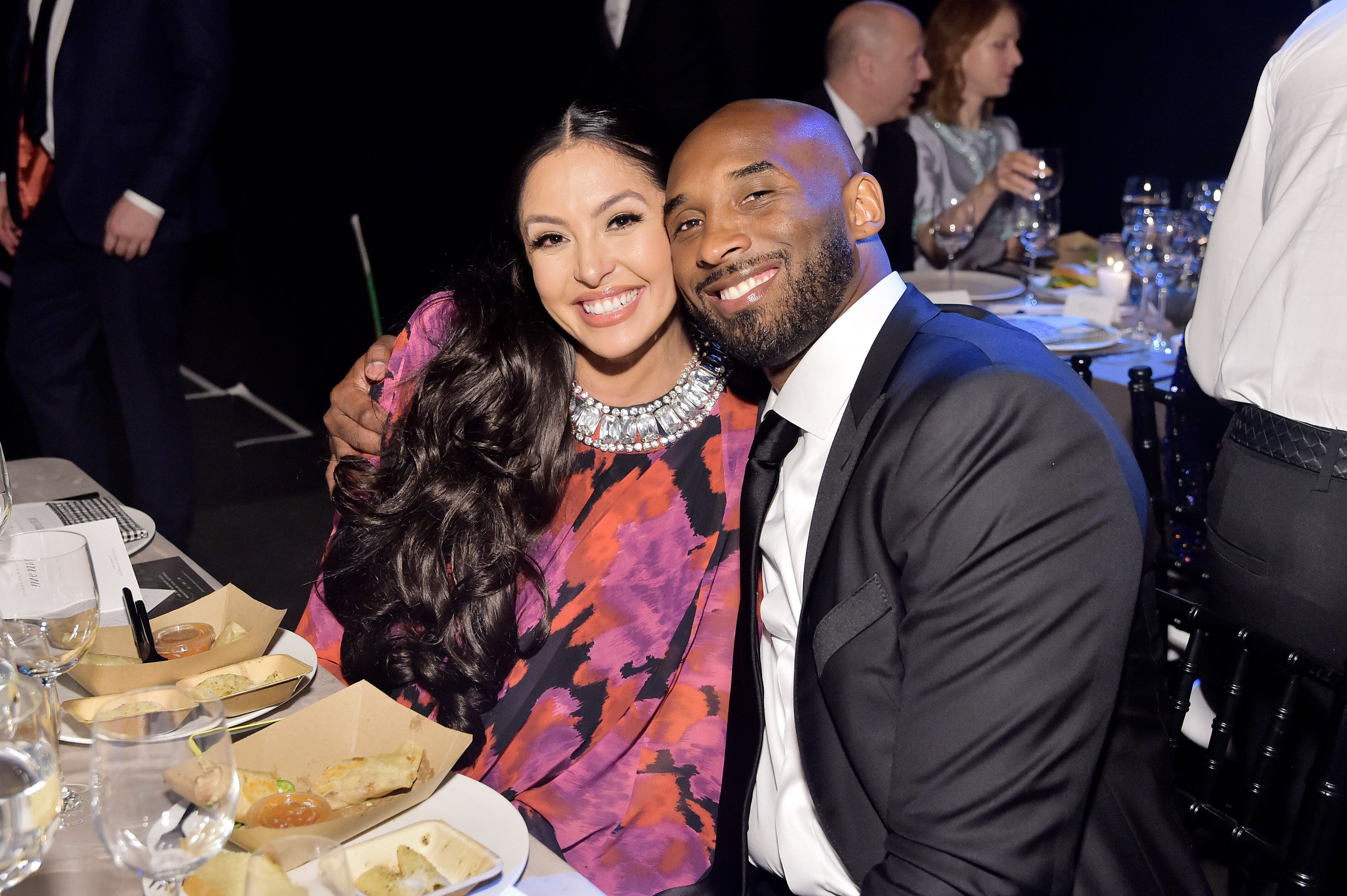 Vanessa and Kobe Bryant attend the 2019 Baby2Baby Gala presented by Paul Mitchell on Nov. 9, 2019, in Los Angeles.