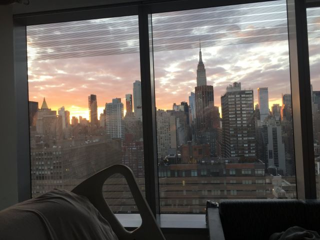 And then ― with its usual flair for the dramatic ― the city serves up a stunning sunset over the Manhattan skyline as seen fr