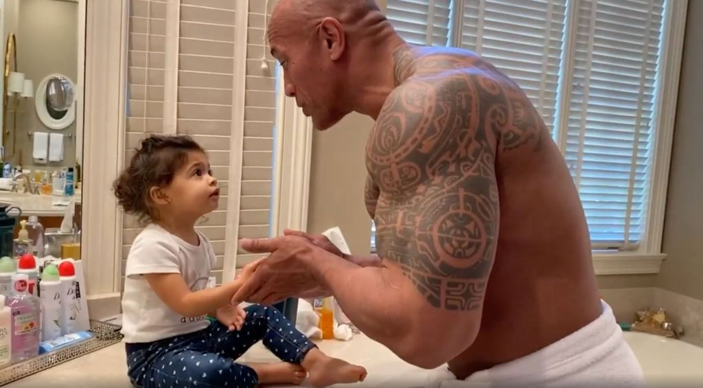 Dwayne Johnson Hilariously Fails To Convince His Daughter He Was In Moana
