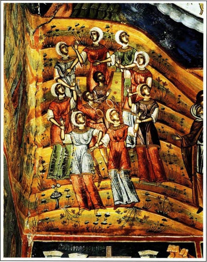 Άγιος Μηνάς, Μονοδένδρι, Ζαγοροχώρια, 1619, Οι Αίνοι, «υπό χειρός Μιχαήλ ζωγράφου μετά του ιού Κωνσταντίνου...