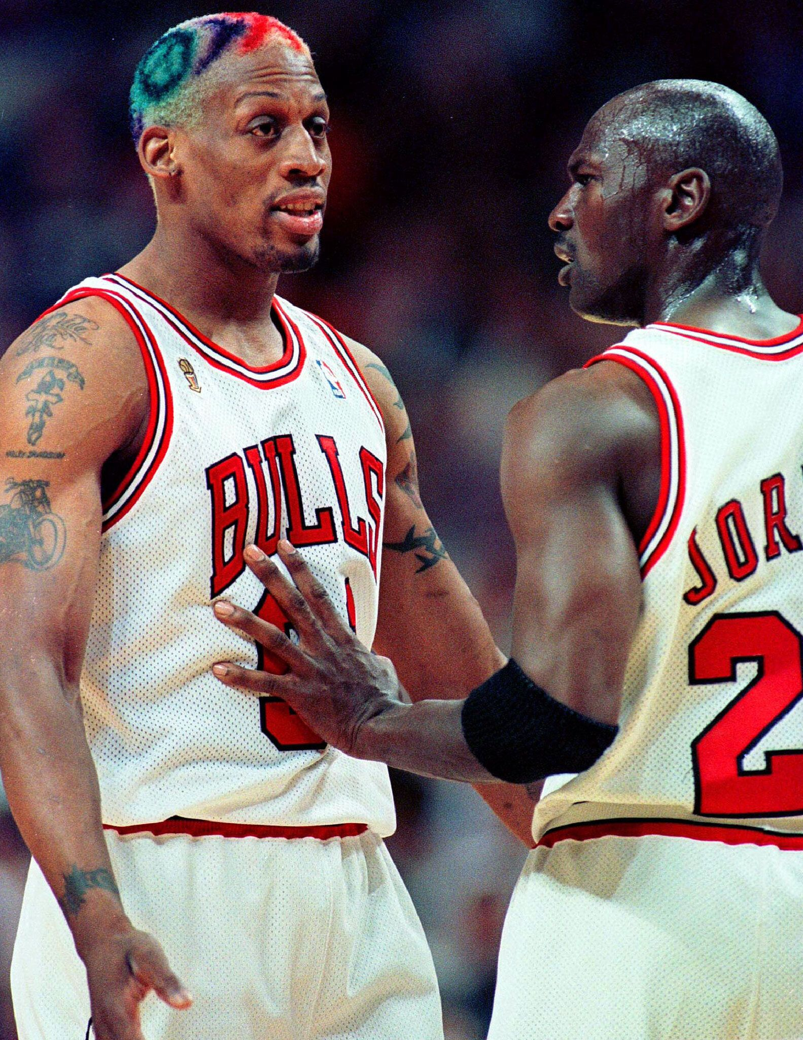 Dennis Rodman Haircut : dennis, rodman, haircut, Photos, Dennis, Rodman's, Iconic,, Ridiculously, Colorful, HuffPost