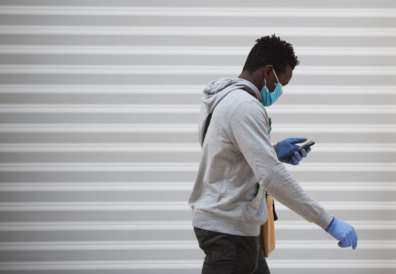 Black males are 4.2 times more likely to die of coronavirus-related illnesses than white males (file picture)