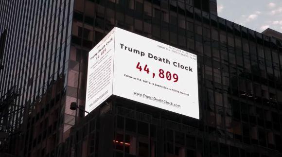 'Trump Death Clock' In Times Square Is Grim Reminder Of Preventable Virus Deaths