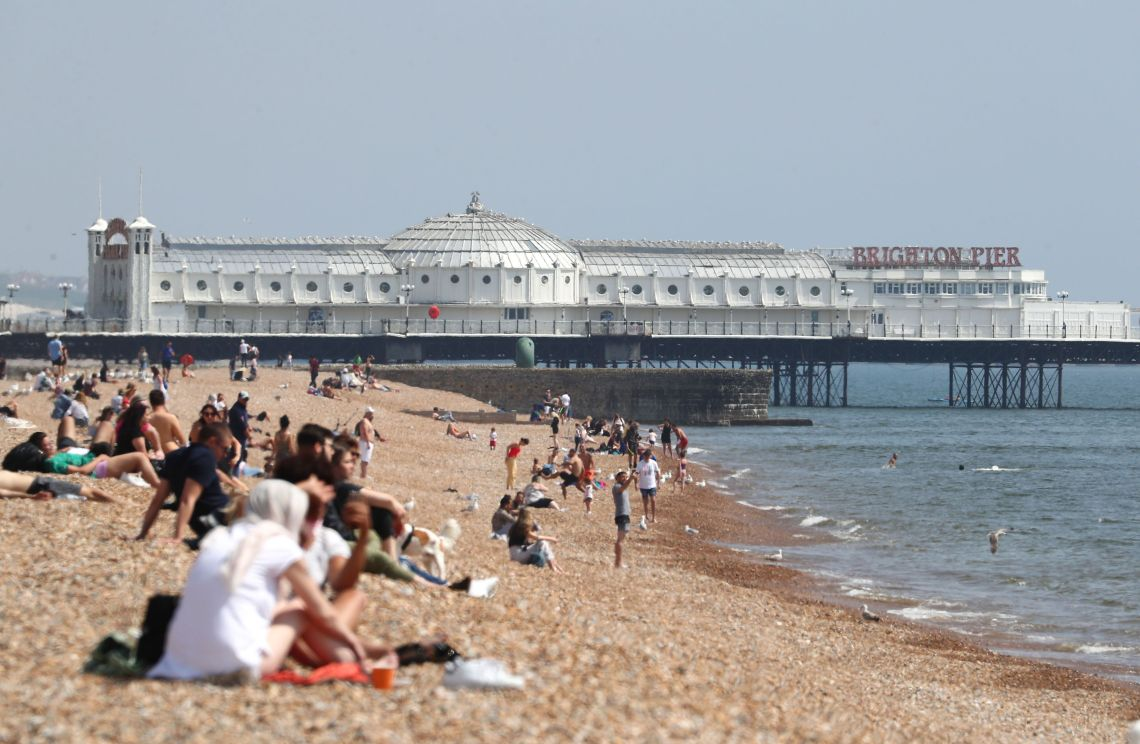 There are fears that crowded beaches could lead to a spike in cases.