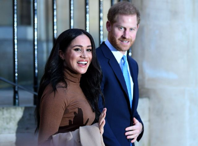 Harry and Meghan react after their visit to Canada House in thanks for the warm Canadian hospitality and support they receive