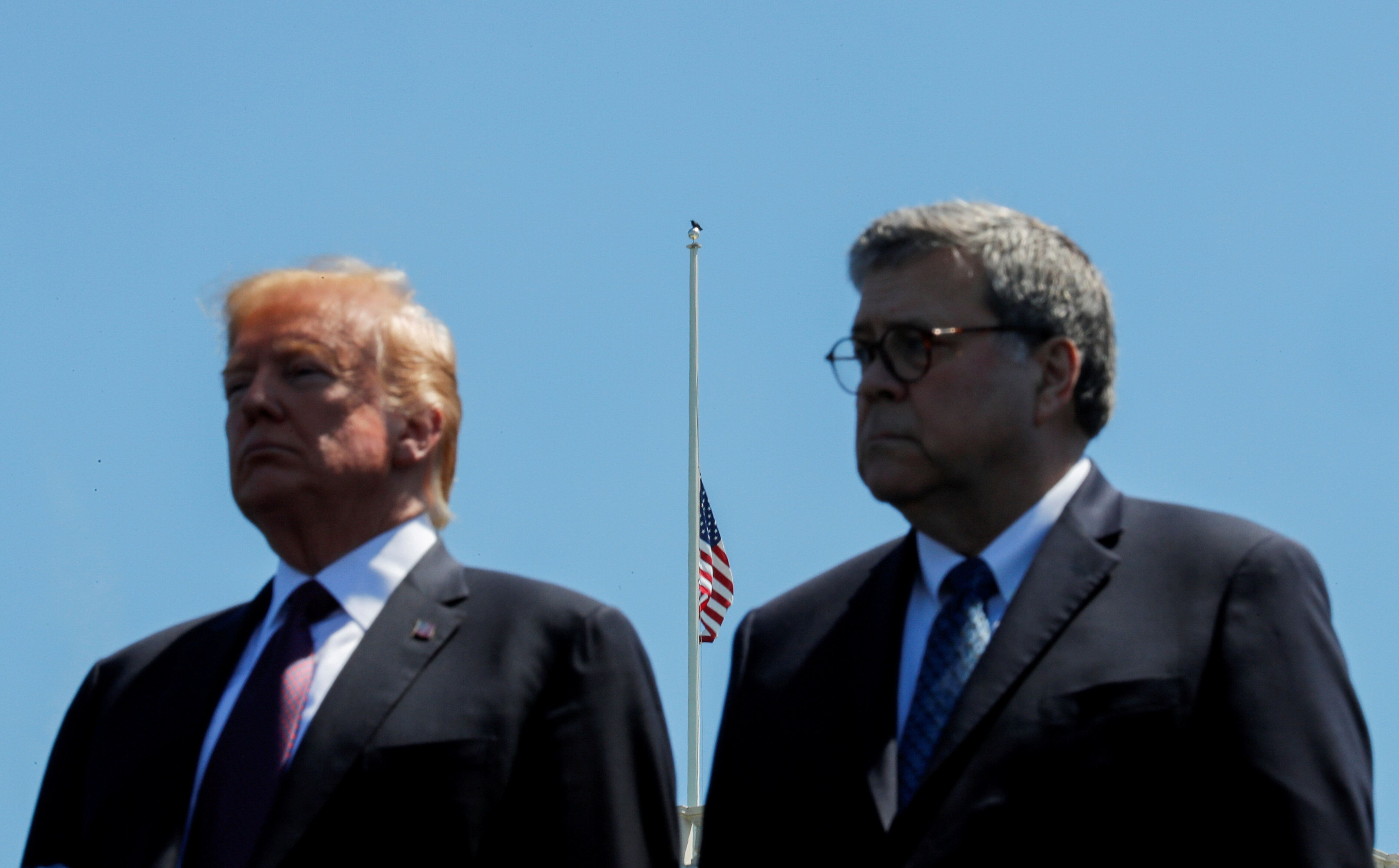 President Donald Trump and Attorney General William Barr attended the 38th Annual National Peace Officers Memorial Service in