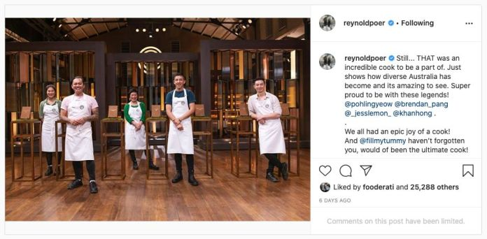 'MasterChef Australia: Back To Win's Reynold Poernomo has limited comments on
