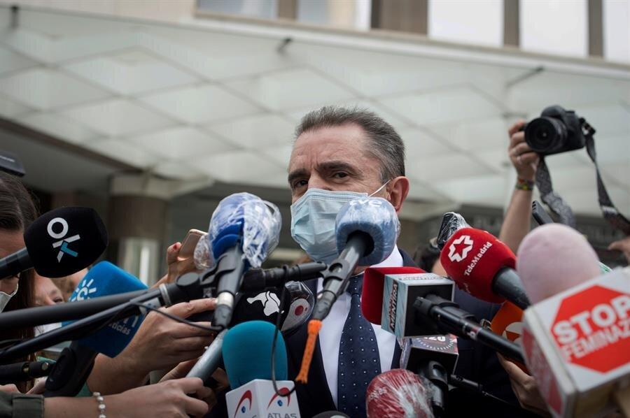 El delegado del Gobierno en Madrid, José Manuel Franco, atiende a los medios a su salida de los Juzgados...