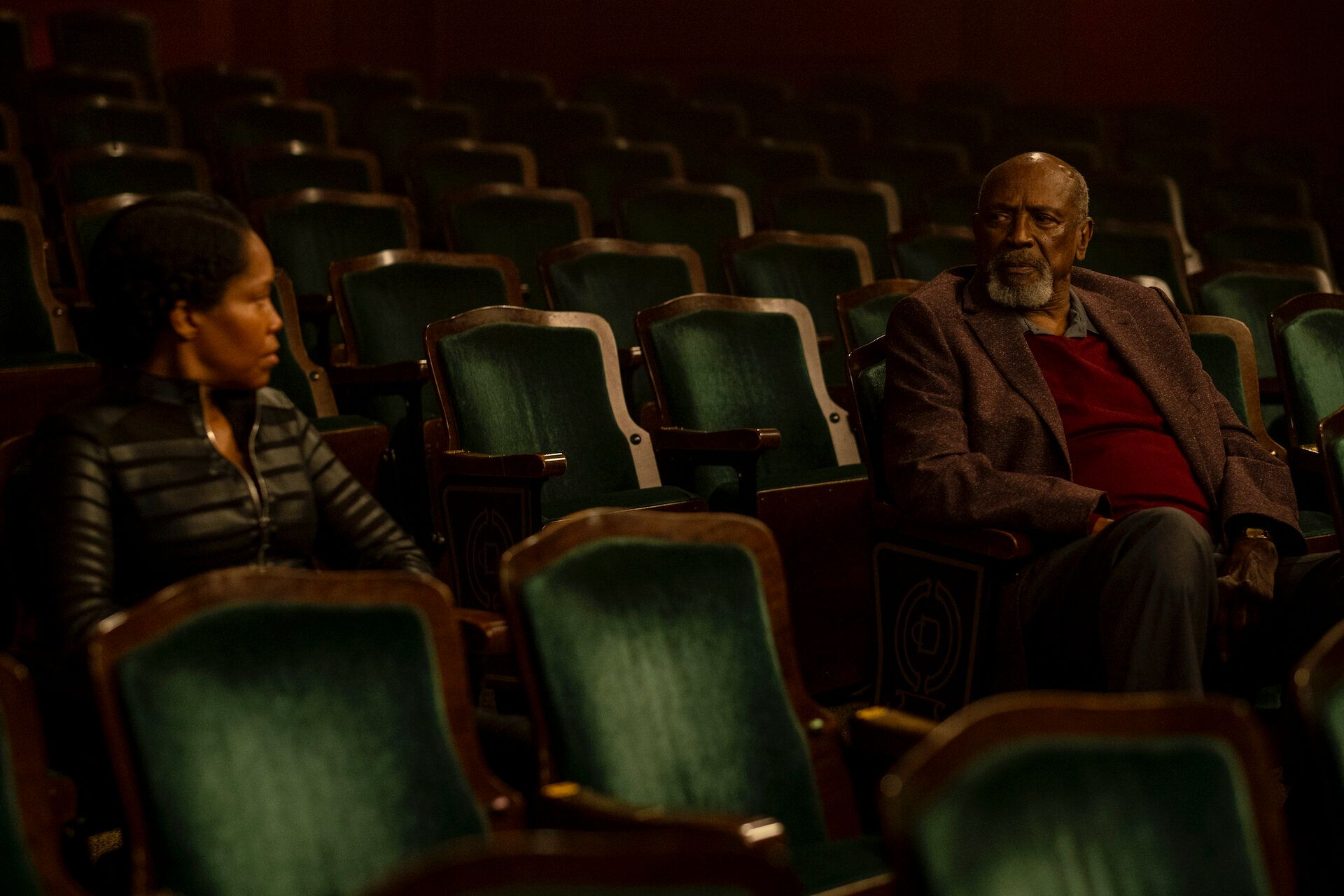 "Regina King and Louis Gossett Jr. in ""Watchmen,"" a show that addresses the history of white supremacy in America."