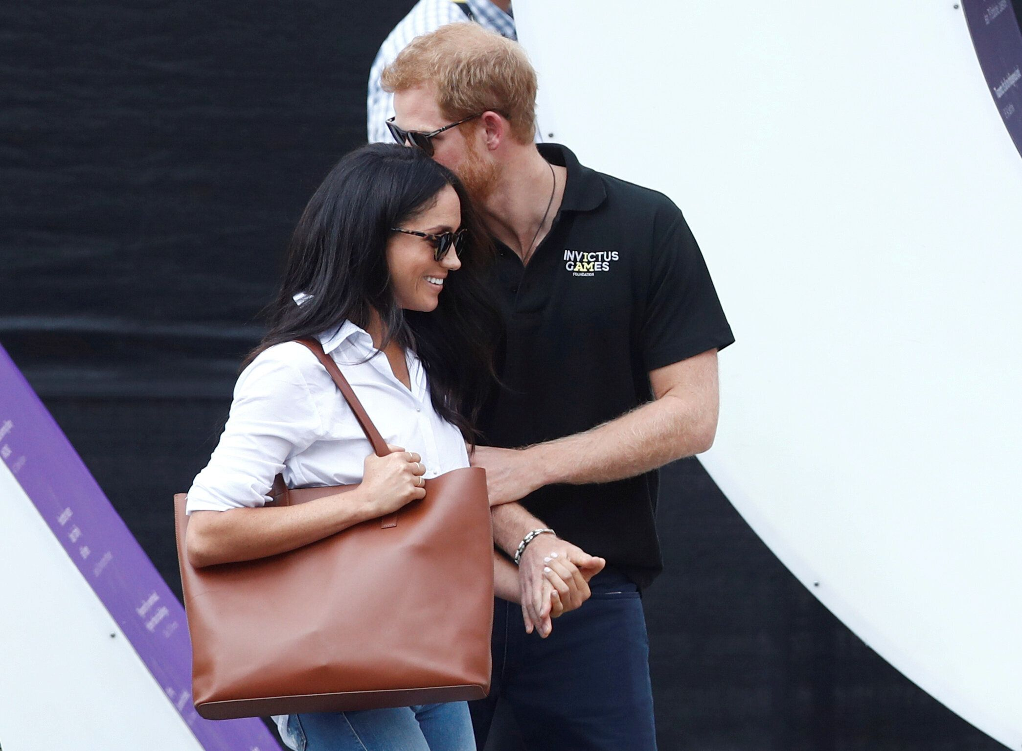 The couple, shown here during a visit to Toronto in September 2017, got an early start on planning their wedding that occurre