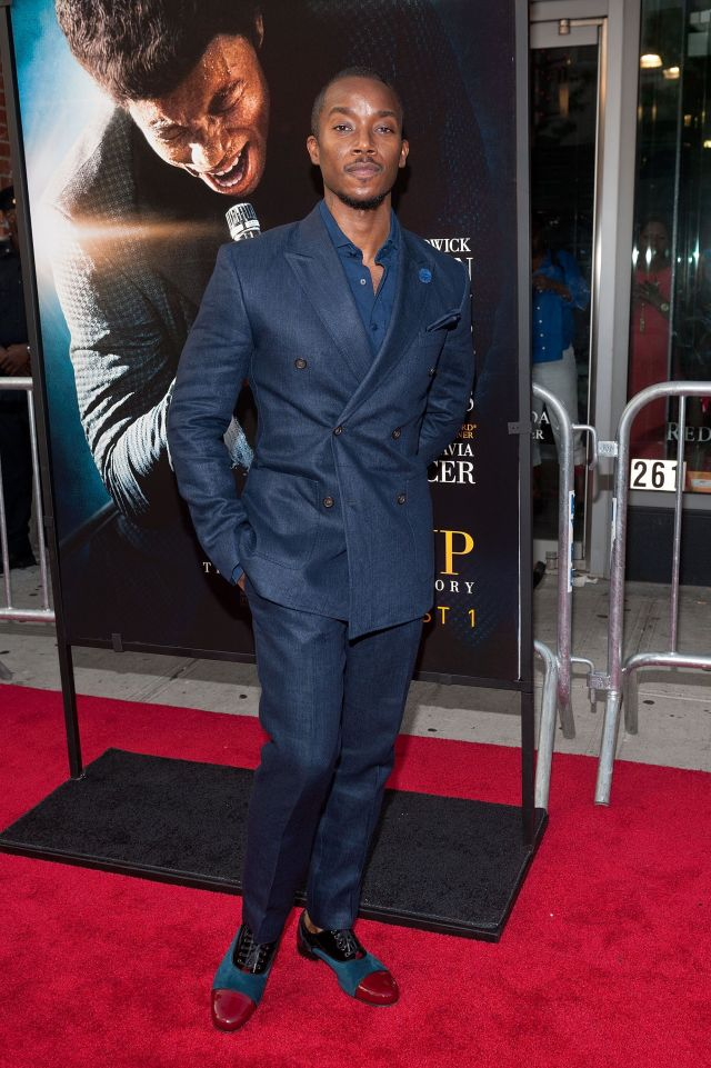 """Aakomon Jones at the """"Get On Up"""" premiere in 2014."""