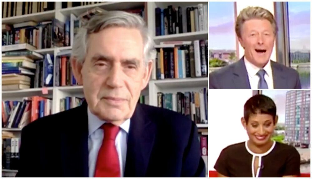 Gordon Brown's Way Of Ending His Zoom Call With BBC Breakfast Is A Total Friday Mood