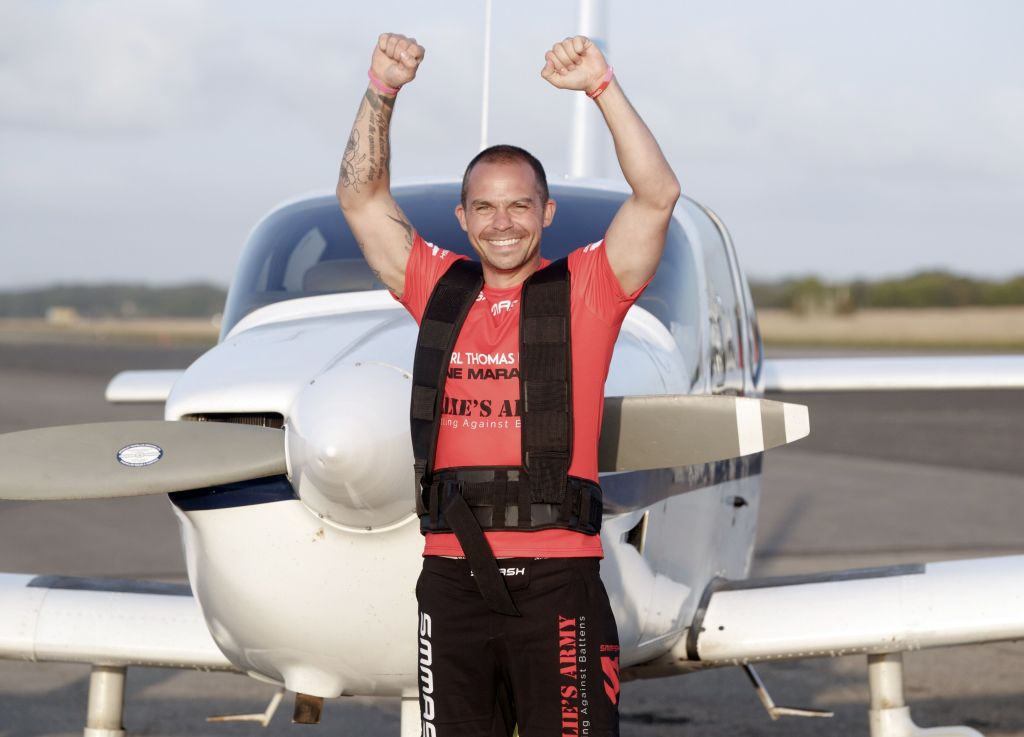 Long Haul! This Guy Did A Marathon While Pulling A 1.25 Tonne Plane