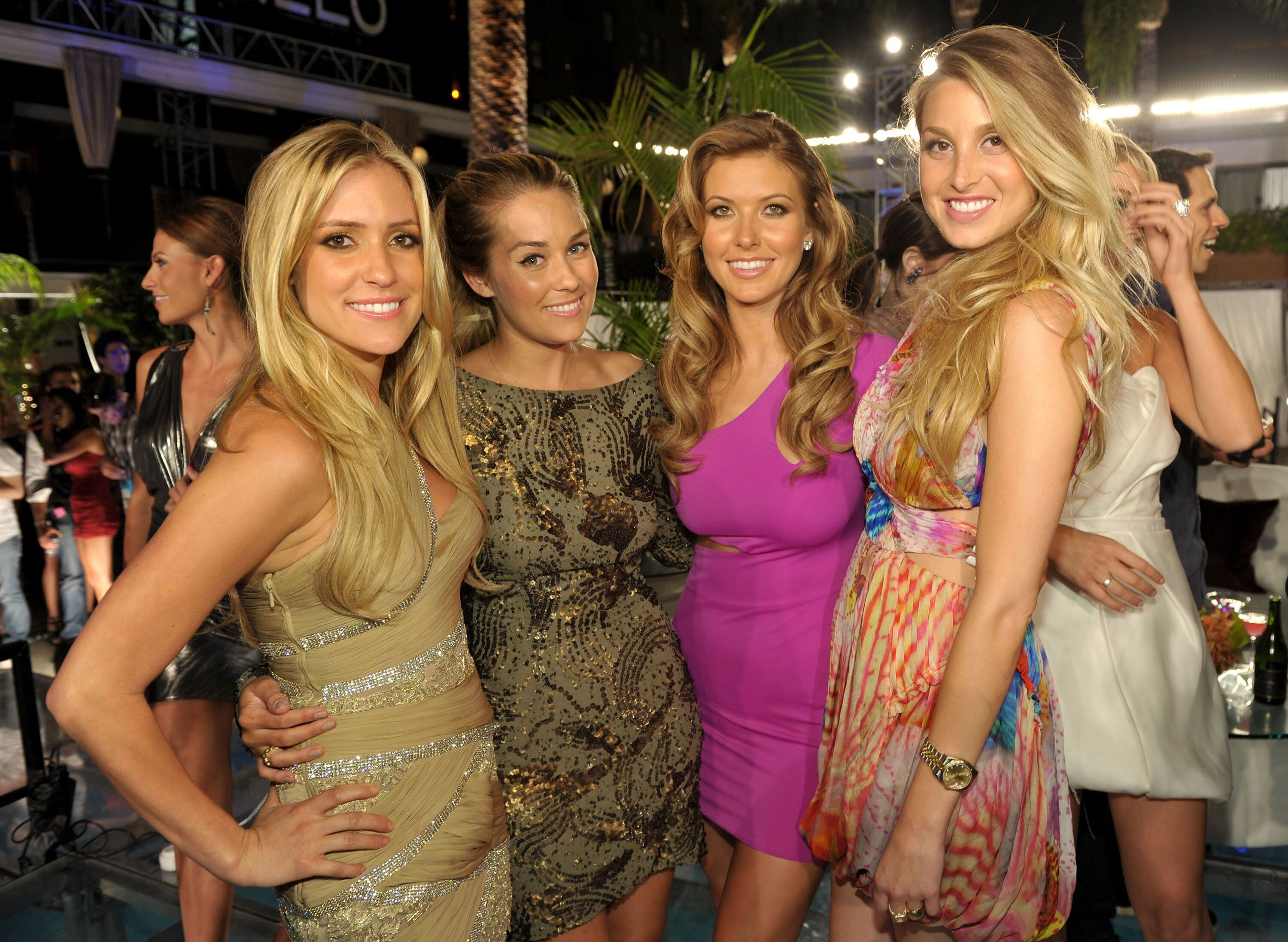"Kristin Cavallari, Conrad, Audrina Patridge and Port attend MTV's ""The Hills Live: A Hollywood Ending"" event in 2010."