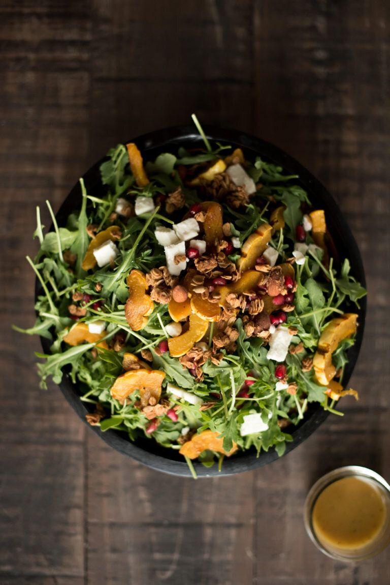 Roasted Delicata Maple Salad from First and Full