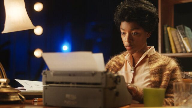 """""""Equal"""" also stars Samira Wiley as playwrightLorraine Hansberry."""