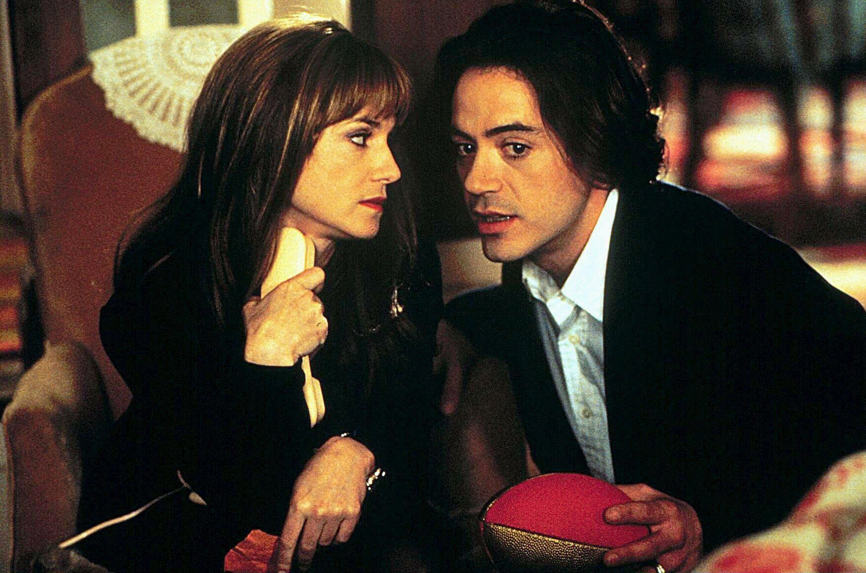 """Hunter and Robert Downey Jr. in """"Home for the Holidays."""""""