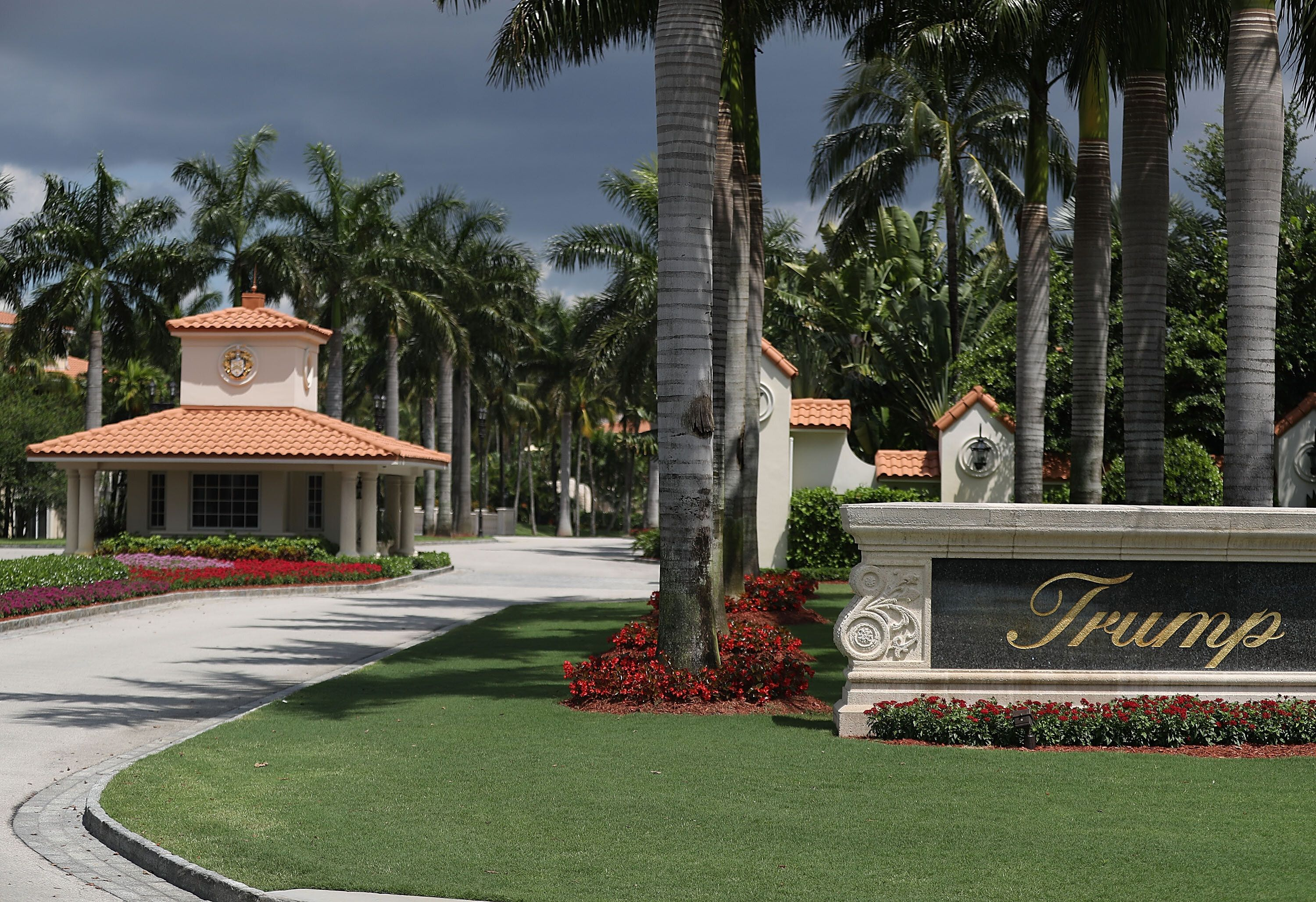 The front entrance to the Trump National Doral, photgraphed on June 1, 2016.