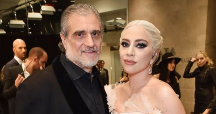 Lady Gaga, with her father, Joe Germanotta, at the 2018 Grammys.