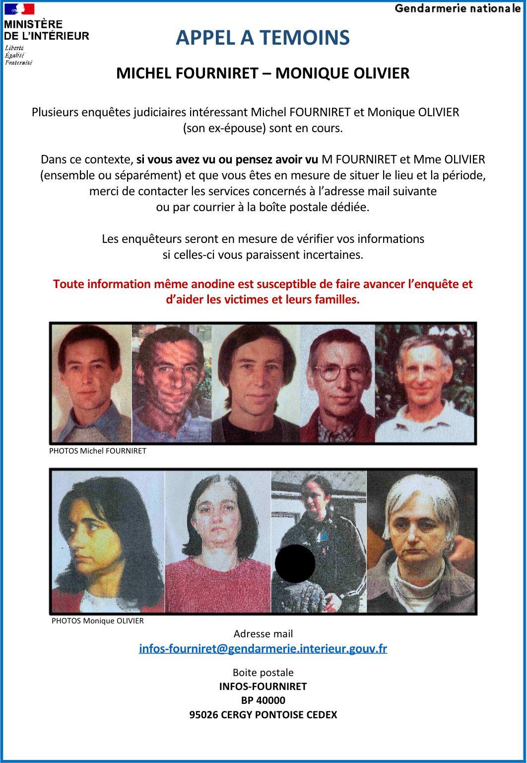 Appel à témoins diffusé le 12 novembre 2020 sur Michel Fourniret et Monique Olivier. (GENDARMERIE