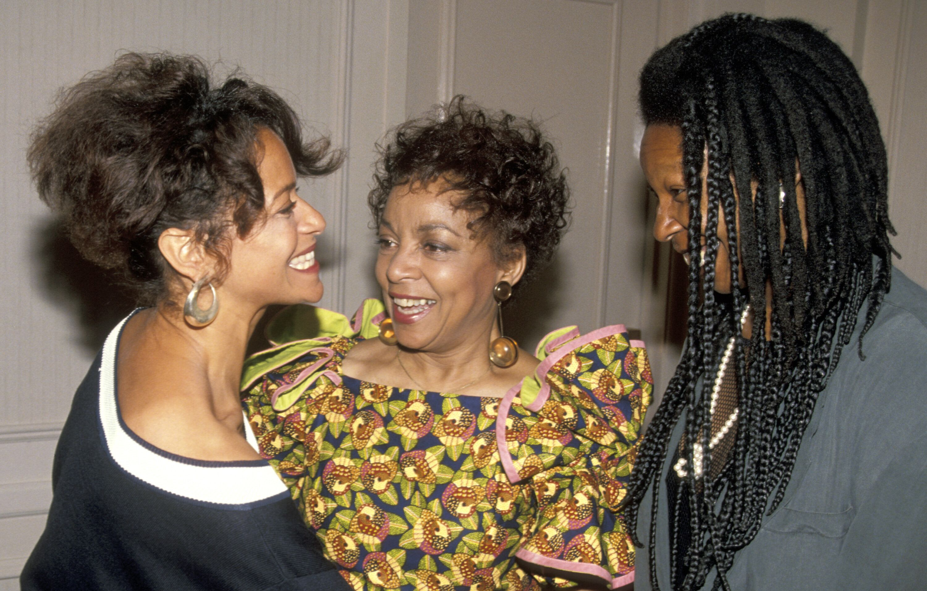 Allen, Ruby Dee and Whoopi Goldberg at the Women in Film awards on June 7, 1991.