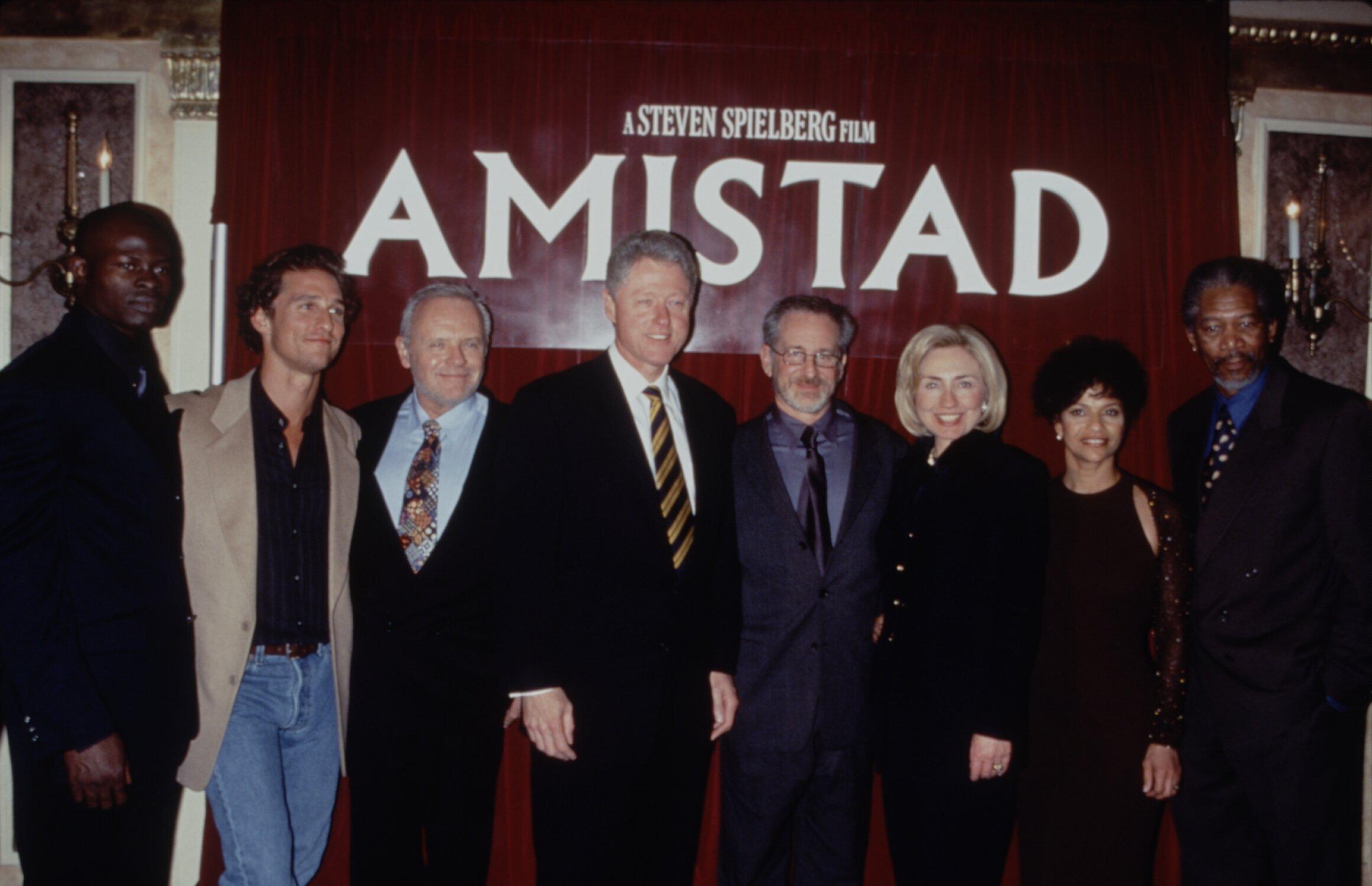 Djimon Hounsou, Matthew McConaughey, Anthony Hopkins, Bill Clinton, Steven Spielberg, Hillary Clinton, Allen and Morgan Freem