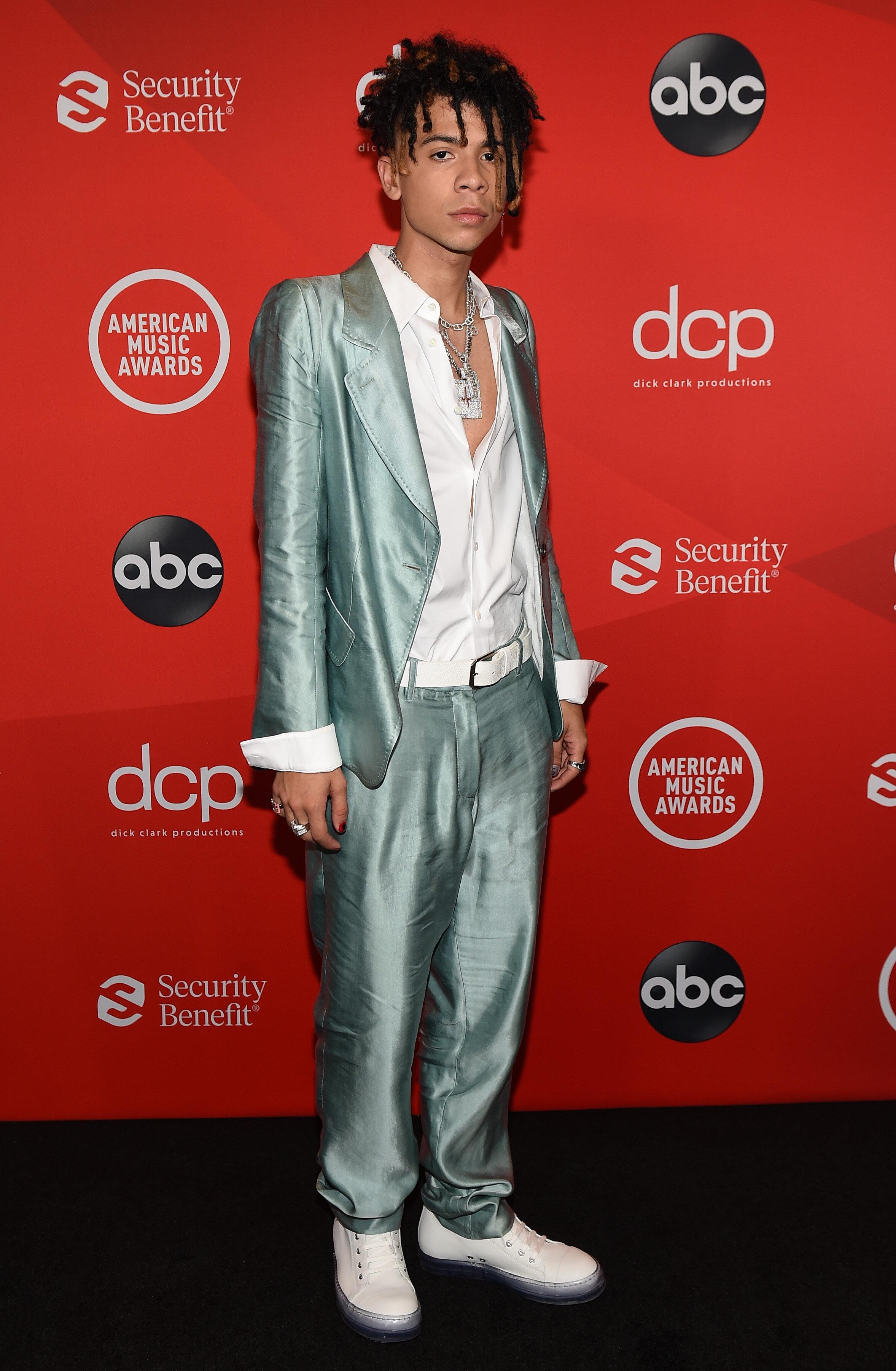 Iann Dior at the 2020 American Music Awards.