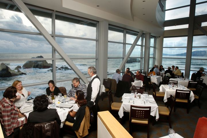 The dining room at Sutro's restaurant at the Cliff House, in San Francisco on March 4, 2009.