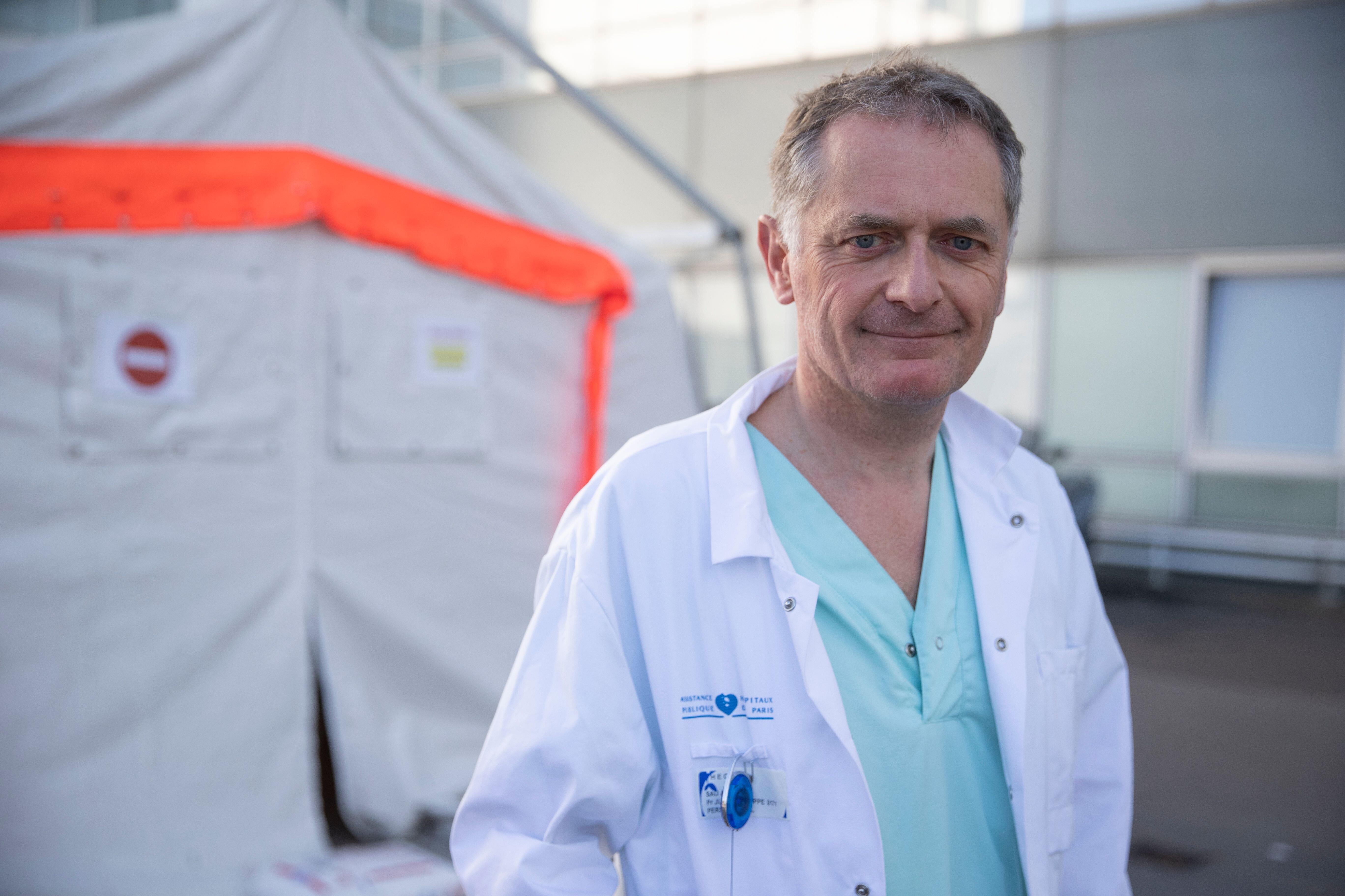 Philippe Juvin chef des urgences de l'hôpital Pompidou à Paris, photographié le 25...