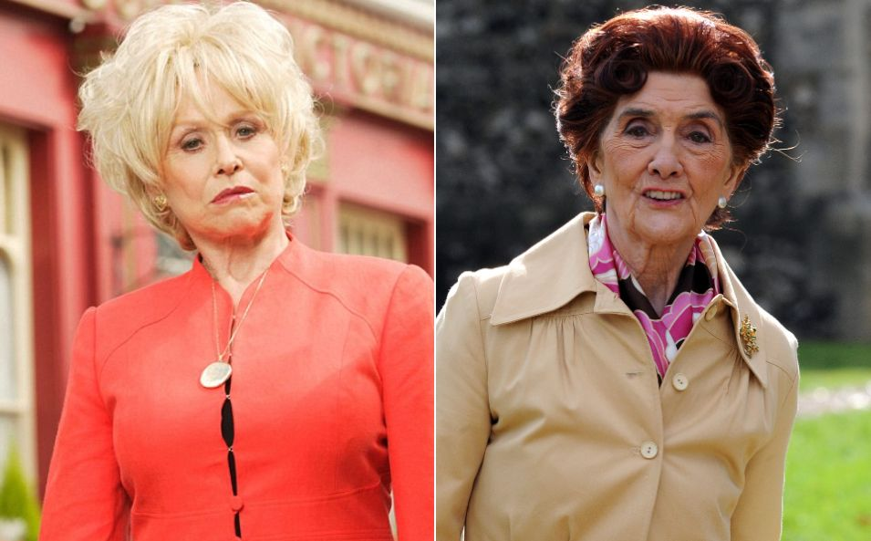 Dame Barbara Windsor and June Brown, aka EastEnders legends Peggy Mitchell and Dot