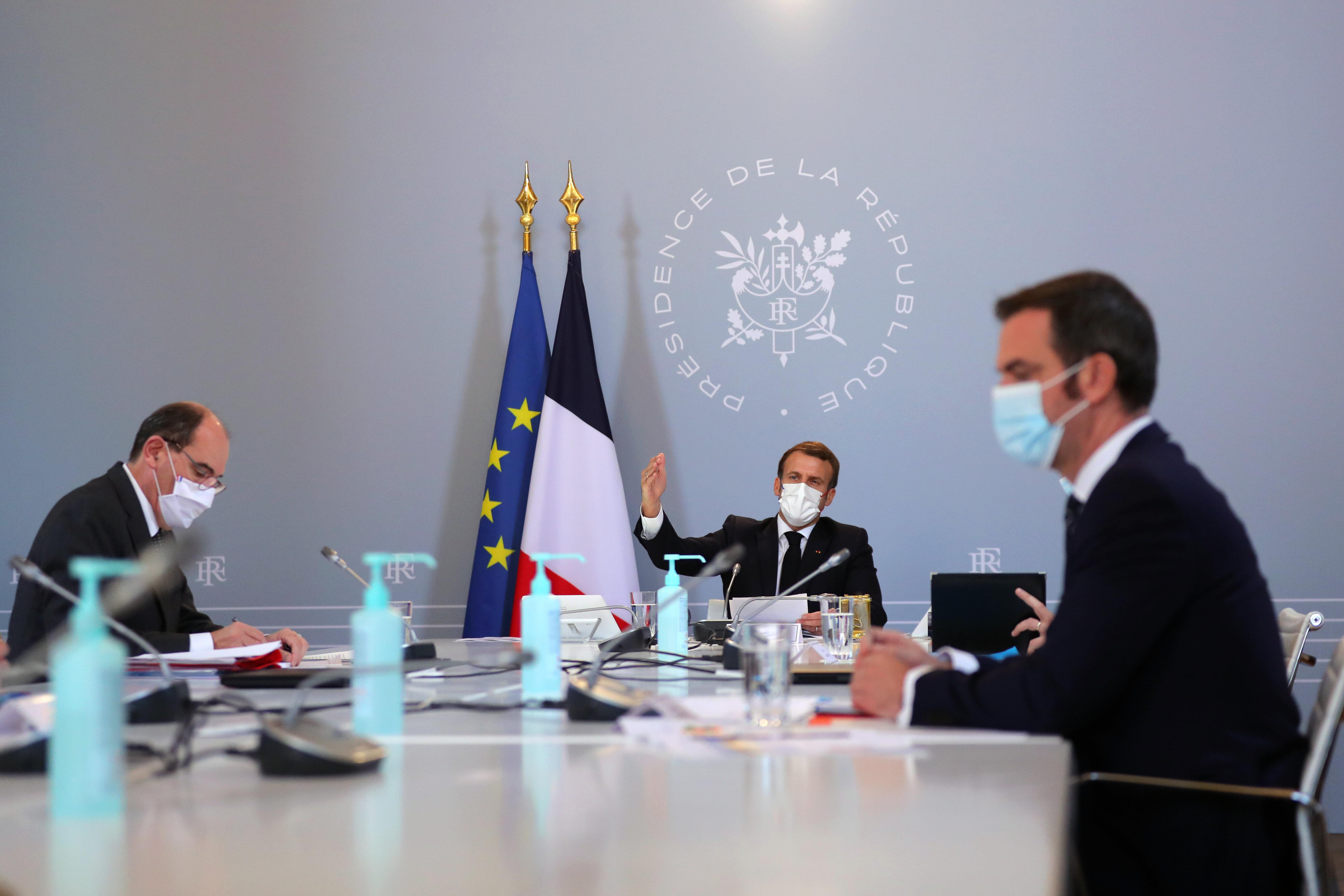 Image d'illustration - Le conseil de Défense du 12 novembre, présidé par Emmanuel Macron, avec le Premier...