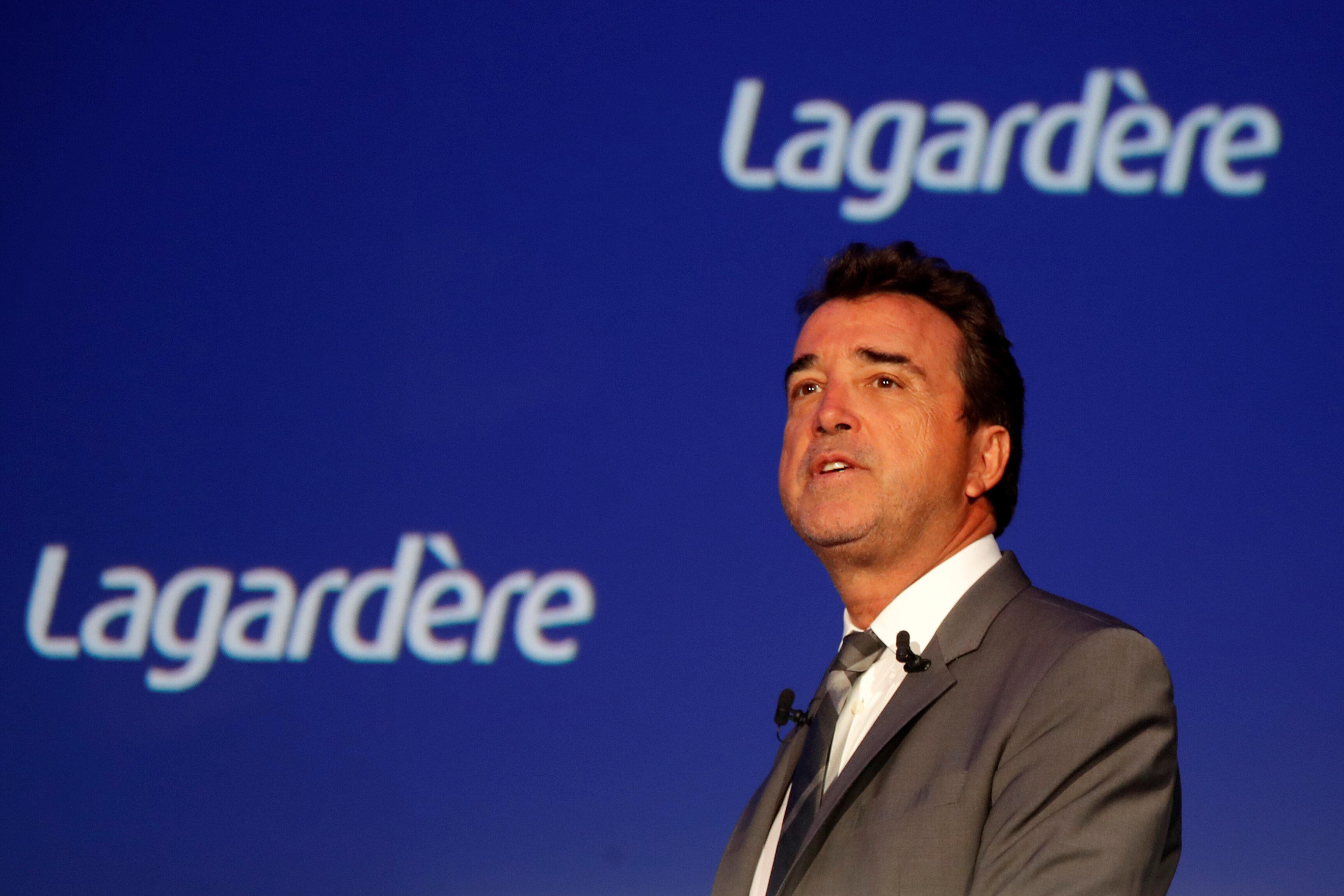 Arnaud Lagardère, patron du groupe Lagardère, photographié à Paris en mai