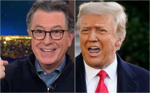 Stephen Colbert explains how he quietly called out Trump every night for 5 months