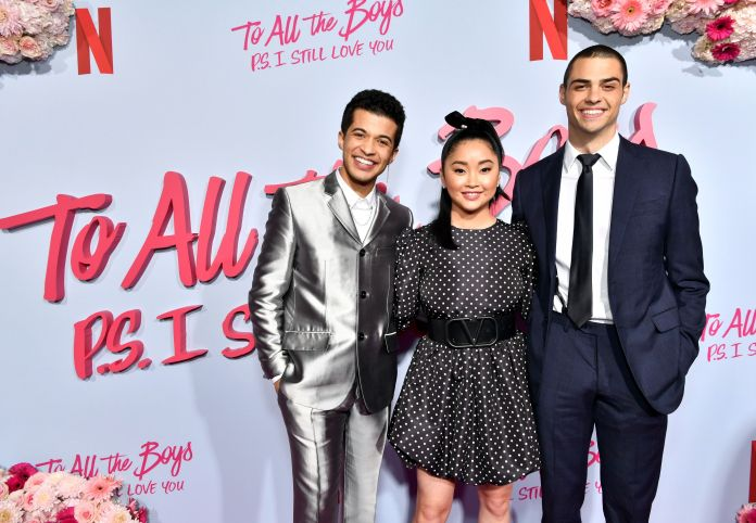 "Jordan Fisher, Lana Condor and Noah Centineo starred in ""To All the Boys: P.S. I Love You,"" one of several Netflix rom-c"