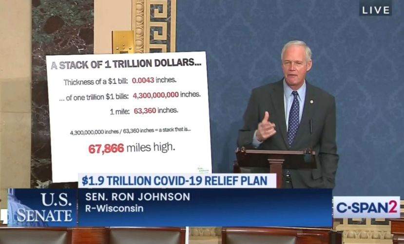 Ron Johnson Argues Against COVID-19 Relief Bill In…