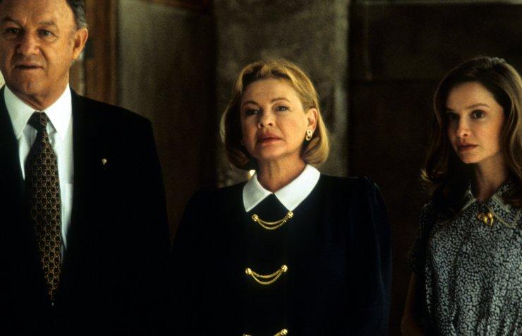 "Gene Hackman, Dianne Wiest and Calista Flockhart in ""The Birdcage."""