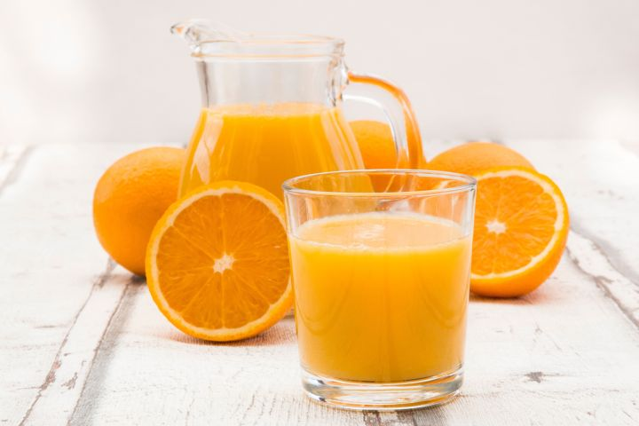 There are 21 grams of sugar in just 8 ounces of orange juice.