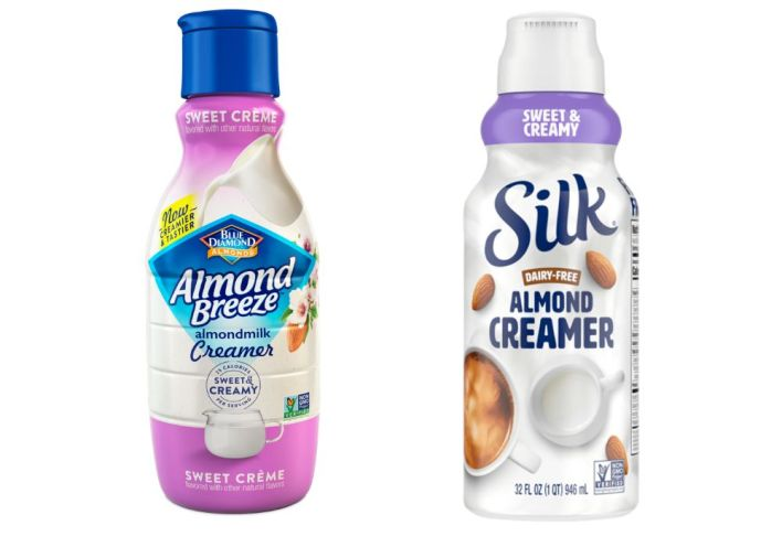 Almond Breeze and Silk make some of the highest-rated almond-based creamers.