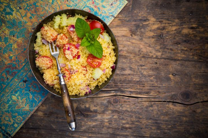 Couscous can be used as a base for quick, healthy dinners.