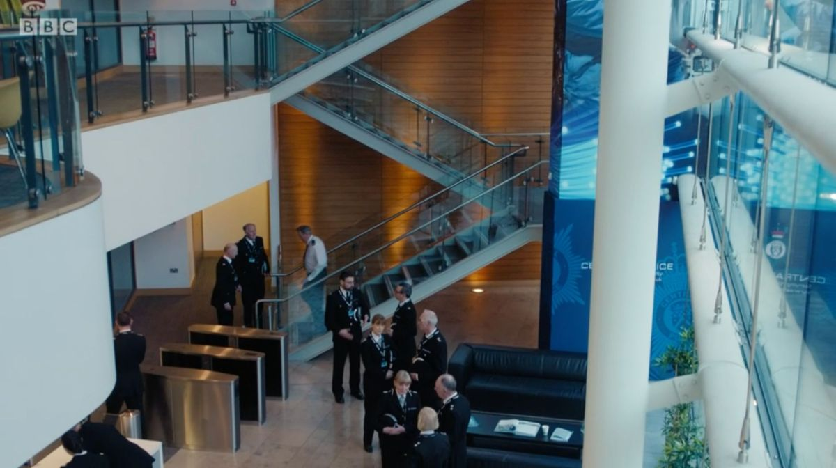 The foyer of AC-12's HQ belongs to the Invest NI offices in